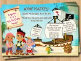Jake and the Neverland Pirate Birthday Invitations Jake and the Neverland Pirates Birthday Invitations
