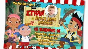Jake and the Neverland Pirate Birthday Invitations Jake and the Neverland Pirates Birthday Invitations