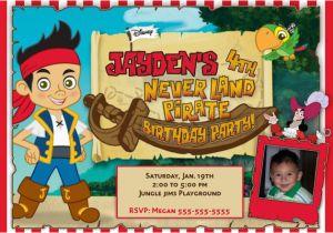 Jake And The Neverland Pirates Birthday Invitations Printable Jake