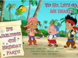 Jake and the Neverland Pirates Birthday Invitations Printable Jake the Neverland Pirates Custom Birthday Invitation