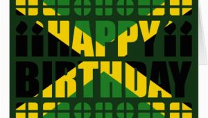 Jamaican Birthday Cards Jamaica Flag Birthday Card Zazzle