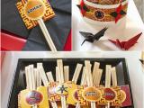 Japanese Birthday Decorations A Japanese origami Dojo Ninja Birthday Party Party Ideas
