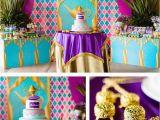 Jasmine Birthday Decorations Cake Cake Table From A Princess Jasmine Birthday Party