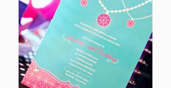 Jewelry Making Birthday Party Invitations Glamour Girl Jewelry Birthday Party Printable Invitation
