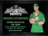 John Cena Birthday Cards Wwe John Cena Birthday Invitation Digital Copy by