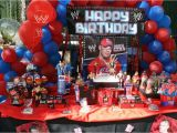 John Cena Birthday Decorations Wwe Party Birthday Party Ideas Photo 3 Of 3 Catch My Party