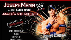 John Cena Birthday Invitations Wwe John Cena Birthday Invitations Partyexpressinvitations