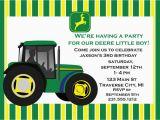 John Deere Birthday Card Free John Deere Birthday Invitations Free Printable