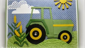 John Deere Birthday Card John Deere Birthday Card Tractor Cloud and Farming