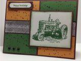 John Deere Birthday Card John Deere Tractor Hand Stamped Greeting Card Big Green