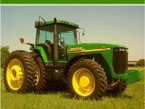 John Deere Birthday Card Personalised John Deere Tractor Birthday Card
