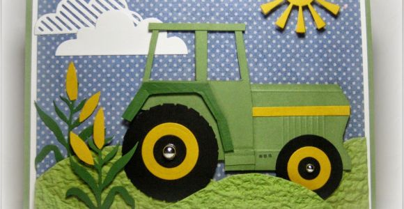 John Deere Birthday Cards John Deere Birthday Card Tractor Cloud and Farming