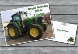 John Deere Birthday Cards Personalised John Deere Tractor Birthday Card A5 Large