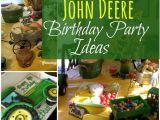 John Deere Birthday Decorations John Deere Tractor themed Birthday Party Ideas