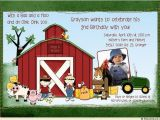 John Deere Birthday Invitation Templates Free Birthday Invitations John Deere Farm Birthday