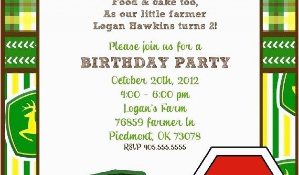 Download By SizeHandphone Tablet Desktop Original Size Back To John Deere Birthday Invitation Templates Free