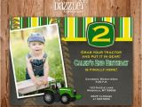 John Deere Birthday Invitation Templates Free Printable Chalkboard Tractor Birthday Photo Invitation