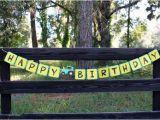 John Deere Happy Birthday Banner Green and Yellow Tractor Birthday Tractor Banner by