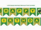 John Deere Happy Birthday Banner John Deere Birthday Banner Boys Tractor themed by