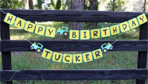 John Deere Happy Birthday Banner John Deere Birthday Banner John Deere Inspired by