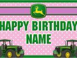 John Deere Happy Birthday Banner John Deere Custom Birthday Banner Pink by Specialtybanners