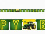 John Deere Happy Birthday Banner John Deere Jointed Banner Tractor Party Supplies Birthday