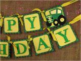 John Deere Happy Birthday Banner John Deere Tractor Happy Birthday Banner by Sweetpickledposies
