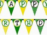 John Deere Happy Birthday Banner Tractor Time Happy Banner Buy 2 Get 1 Free Diy