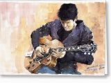 John Mayer Birthday Card Jazz Rock John Mayer 02 Painting by Yuriy Shevchuk