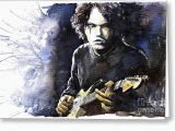 John Mayer Birthday Card Jazz Rock John Mayer 03 Painting by Yuriy Shevchuk