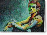 John Mayer Birthday Card John Mayer Painting by Joshua Morton