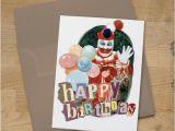 John Wayne Birthday Card John Wayne Gacy Clown Birthday Card True Crime Fan Greeting