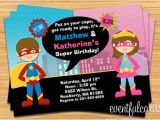 Joint Birthday Invitations for Kids Kids Superhero and Supergirl Joint Birthday Party Invitation