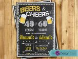 Joint Birthday Invites Adult Birthday Joint Party Invitation for Men Beers Cheer