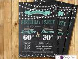 Joint Birthday Invites Adult Joint Birthday Invitation String Light