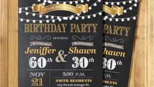 Joint Birthday Invites Adult Joint Birthday Invitation String Light