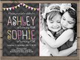 Joint Birthday Invites Joint Birthday Invitation Girls Joint Birthday Party