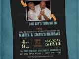Joint Birthday Invites Joint Milestone Surprise Birthday Party Invite Double Party