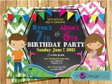 Joint Birthday Invites Kids Joint Mini Golf Birthday Party Invitations Combined