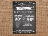 Joint Birthday Party Invitations for Adults Adult Joint Birthday Party Invitation Black and White