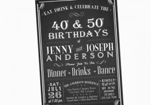 Joint Birthday Party Invitations For Adults Adult Invitation Eat Drink By