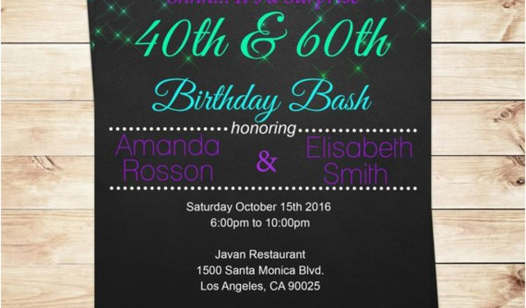 Download By SizeHandphone Tablet Desktop Original Size Back To Joint Birthday Party Invitations For Adults
