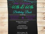 Joint Birthday Party Invitations for Adults Joint Birthday Invitations for Adults Purple and Teal