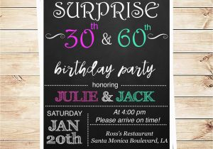 Joint Birthday Party Invitations For Adults By