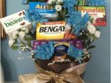 Joke Birthday Gifts for Him Old Age Remedies Tucked Into A Flower Arrangement is A