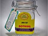 Joke Birthday Presents for Him Best Gag Gift A Jar Of Nothing Funny Gift by Daisychainonline