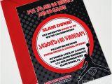 Jordan Birthday Invitations Air Jordan Jumpman Birthday Invitation 12 75 Invite
