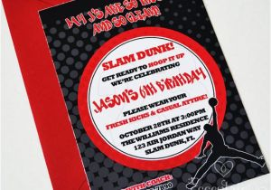 Jordan Birthday Invitations Air Jordan Jumpman Birthday Invitation 12 75 Invite