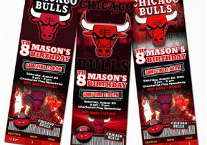 Jordan Birthday Invitations Chicago Bulls Birthday Party Invitation Ticket 1st Custom