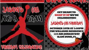 Jordan Birthday Invitations Eccentric Designs Boy Birthday Party Invitations